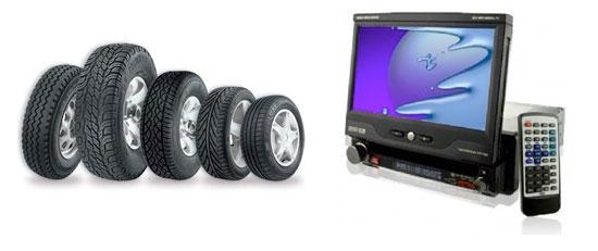 DVD players, pneus, rodas e mais em Rivera