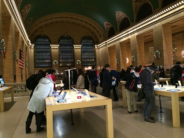 A linda Apple Store da Grand Central Station.