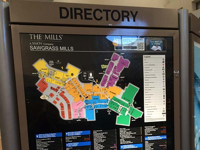 sawgrass-mills-mapa