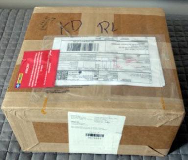 Caixa da Qwintry – frete do correio estatal dos EUA (USPS)